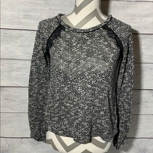 WHBM sweater with lace detail - size XXS